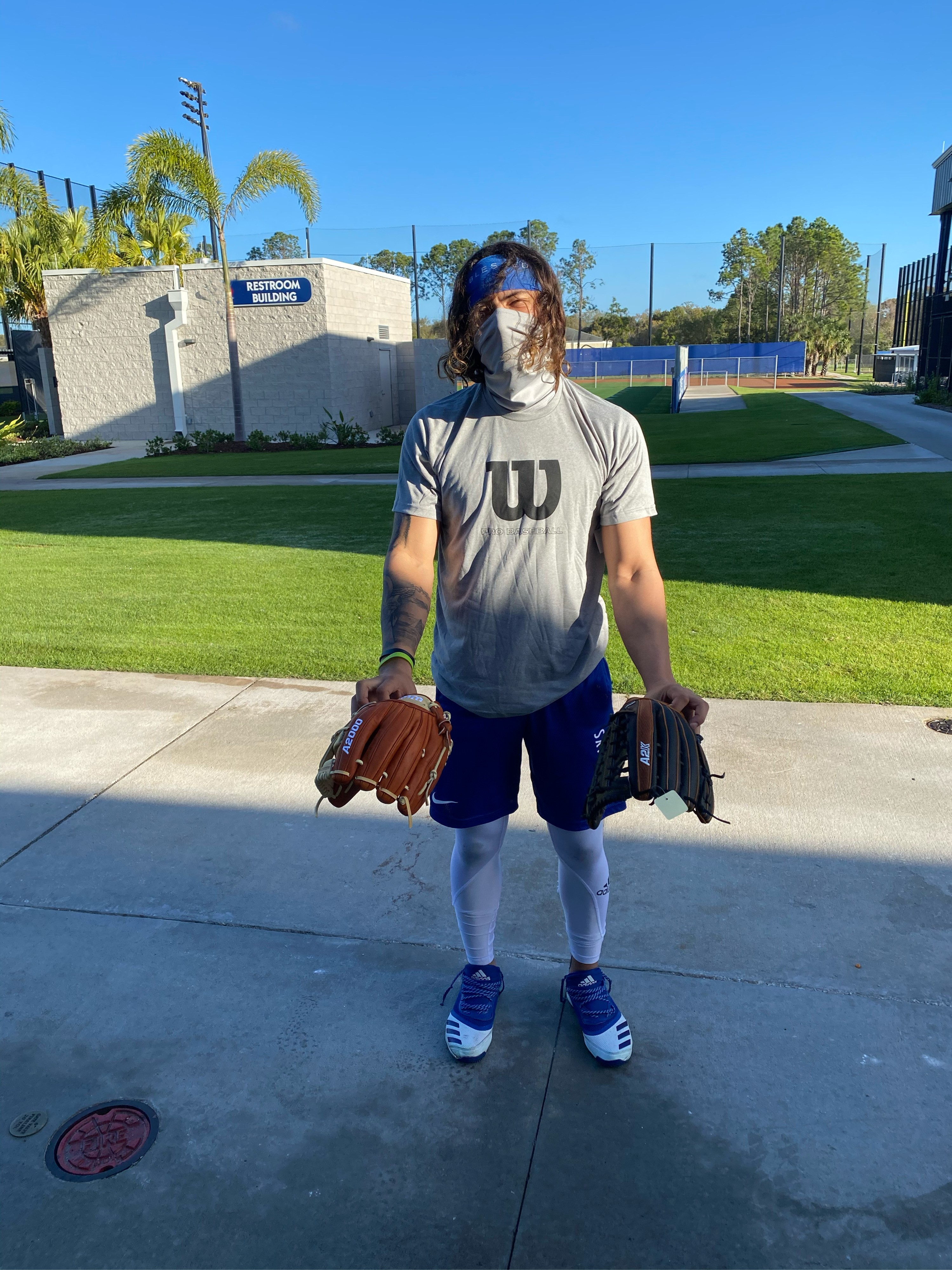 Austin Martin and his gloves