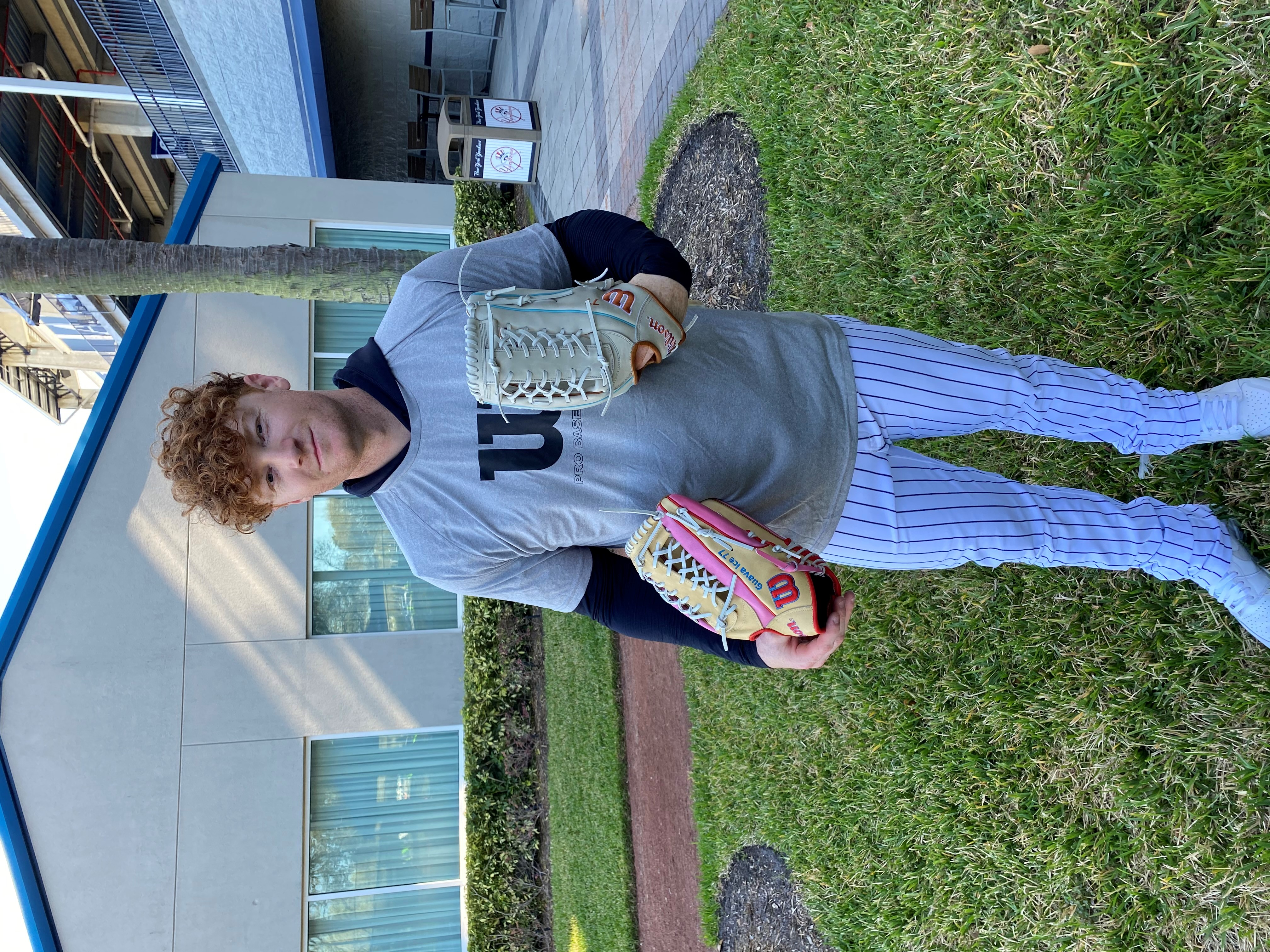Clint Frazier and his gloves