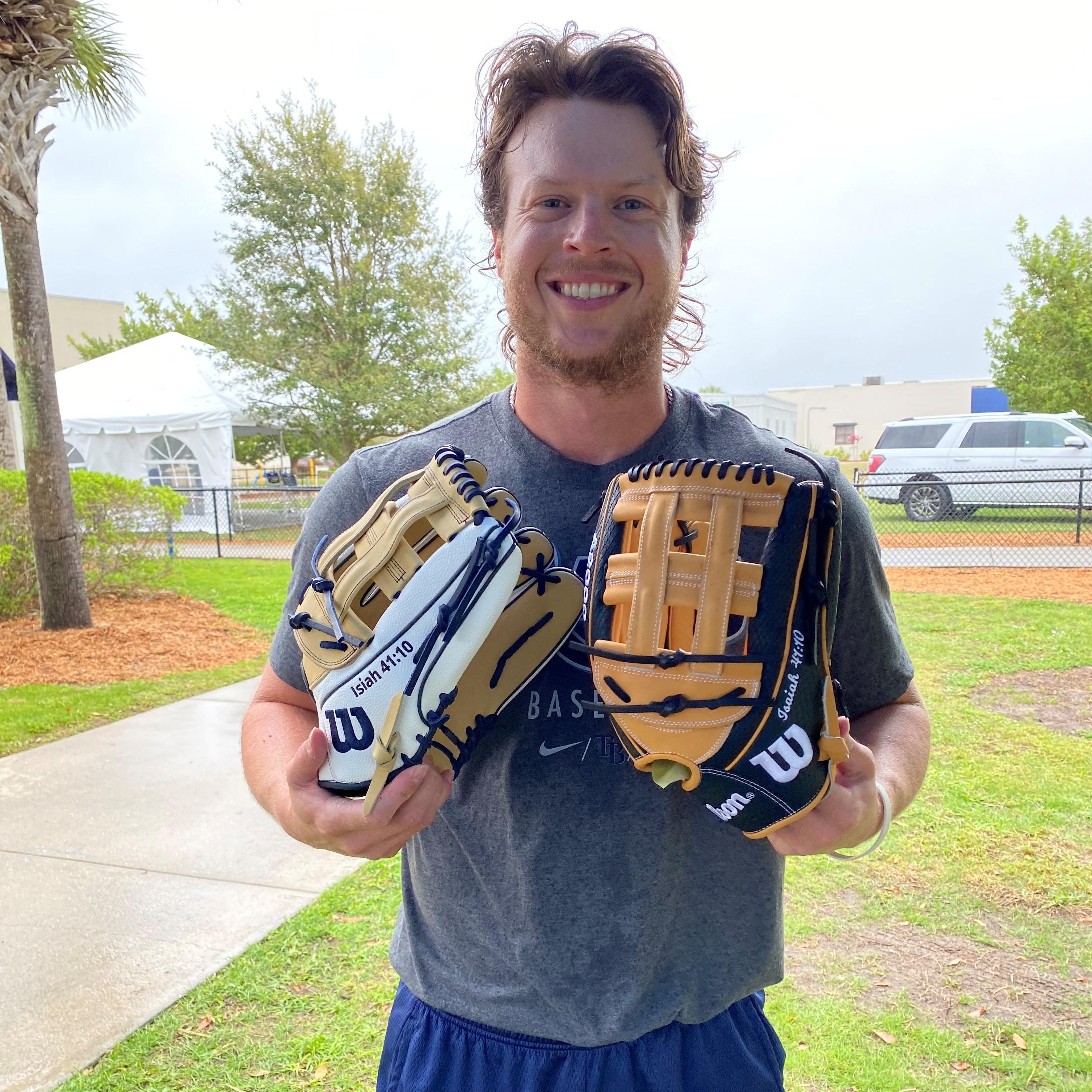 brett phillips with his gloves