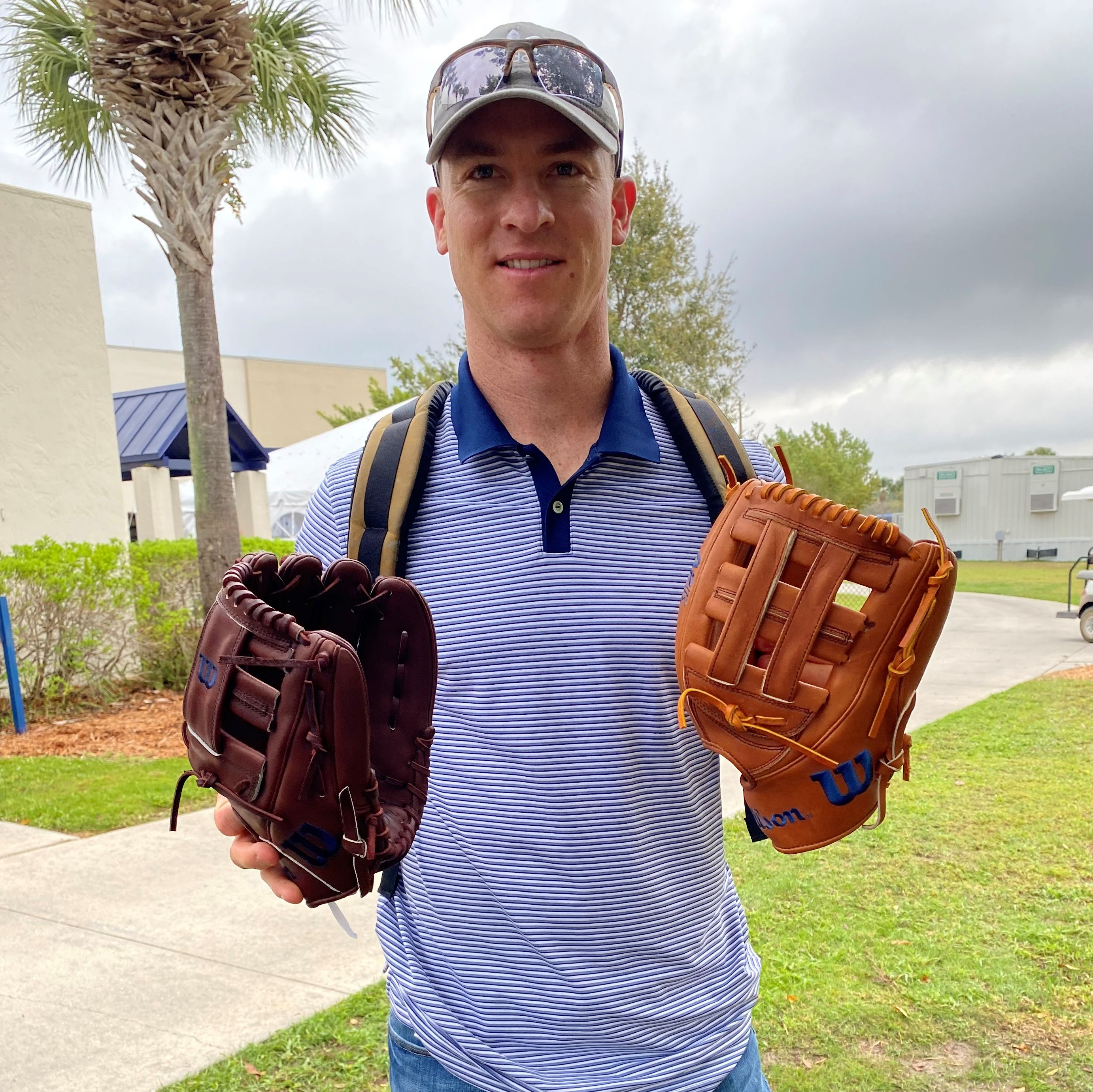 Joey Wendel with his gloves