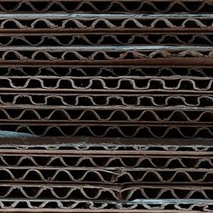 closeup of cardboard packaging