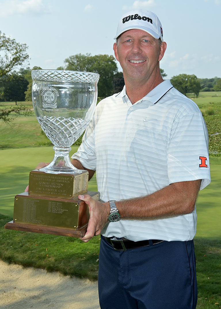 mike small with trophy