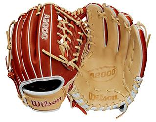 Blonde and copper A2000 baseball glove