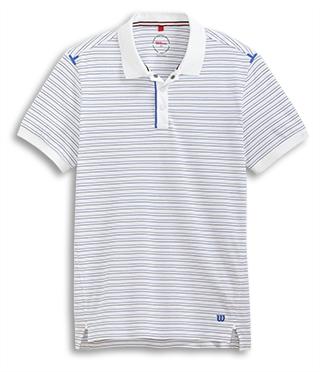 Photo of the flat Newport white polo shirt