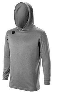 closeup of a gray shooting hoodie