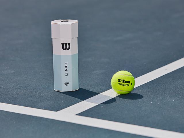 Triniti tennis ball on court