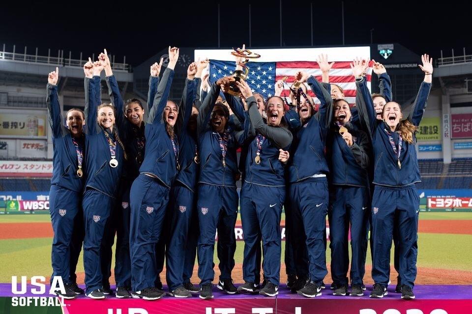 Team USA Sotball players celebrating