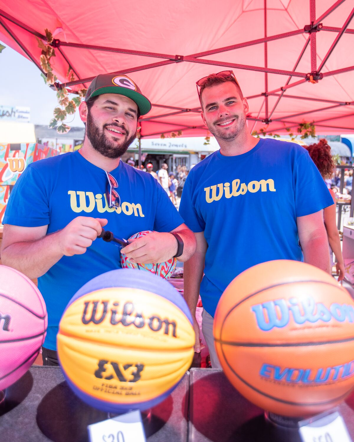 Two Wilson staff members at the tournament