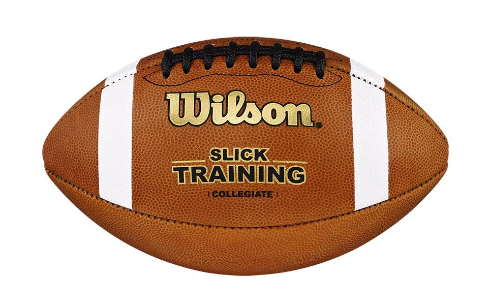 a slick training football