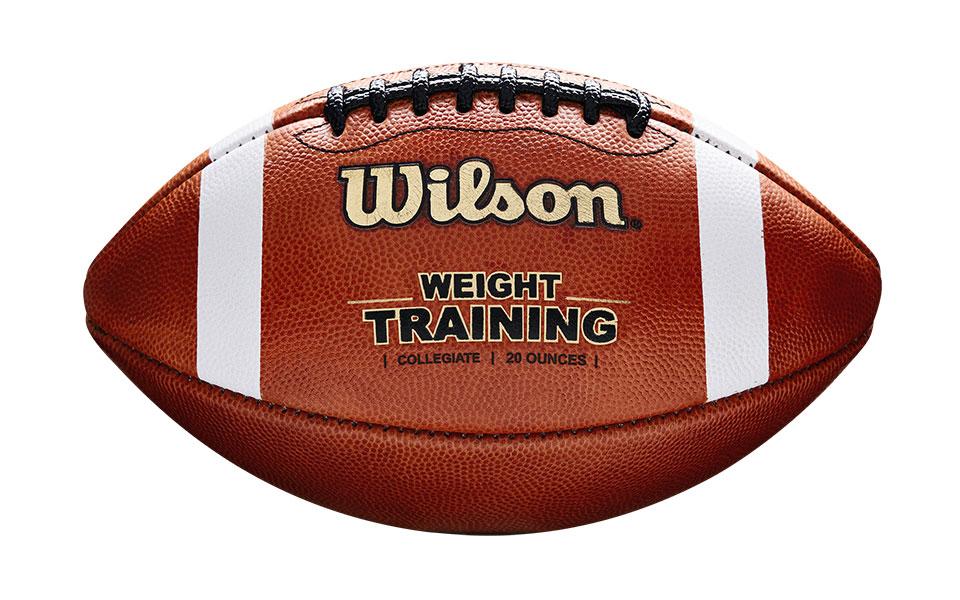 a weight training football