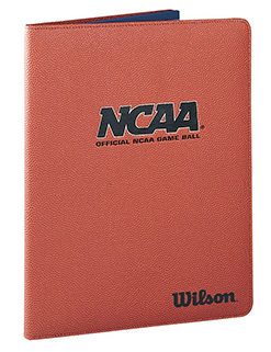 file folder with NCAA logo and basketball texture and color