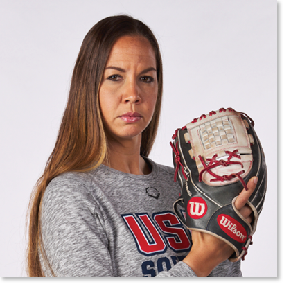 Photo of cat osterman with her glove