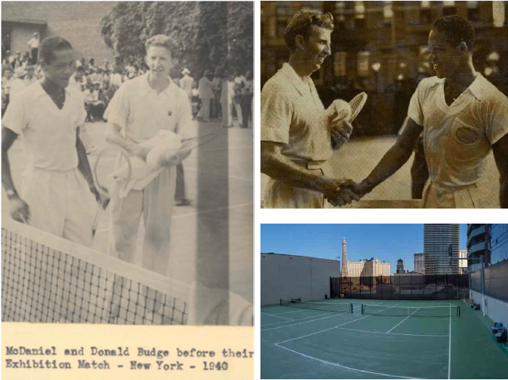 archival images from the 1940 exhibition match