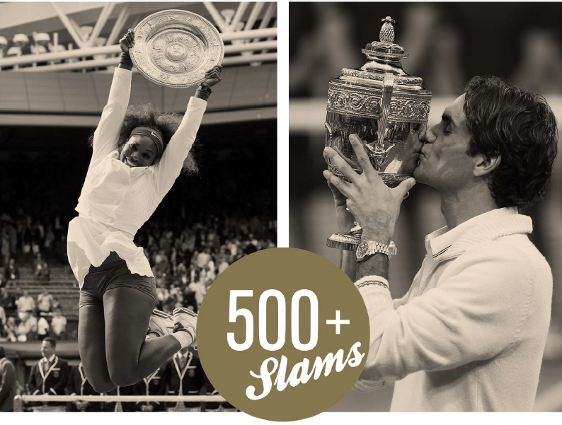 serena and federer with grand slams