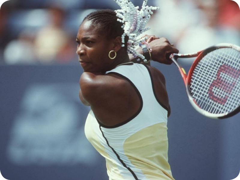 Serena Williams at her Grand Slam 1