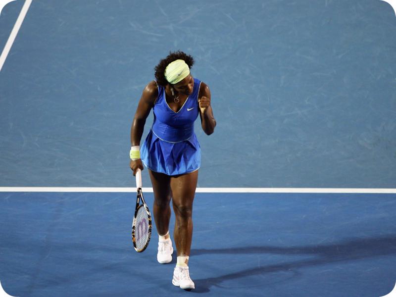 Serena Williams at her Grand Slam 10