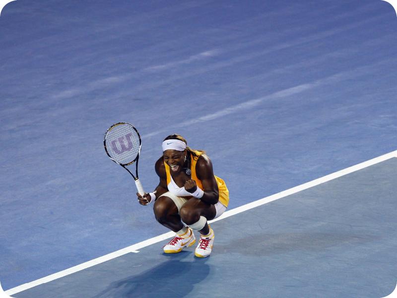 Serena Williams at her Grand Slam 14