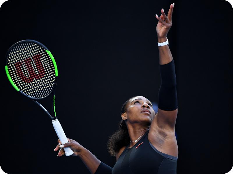 Serena Williams at her Grand Slam 17