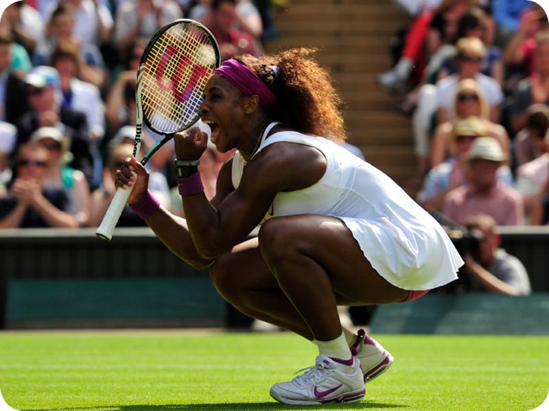 Serena Williams at her Grand Slam 18