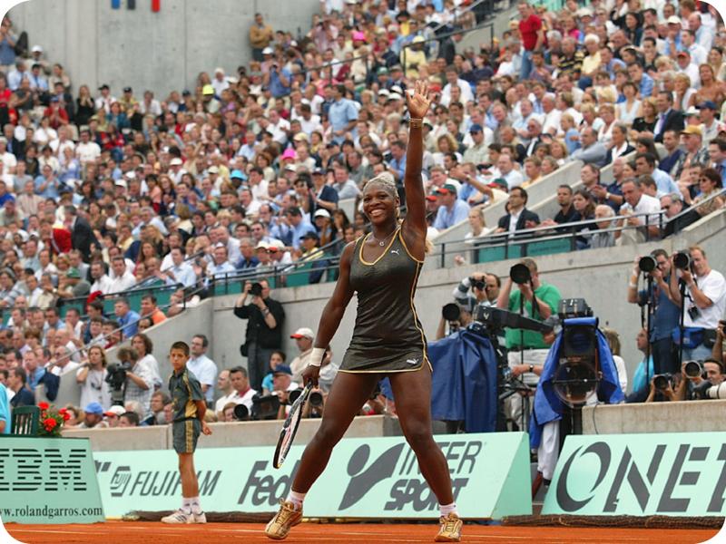 Serena Williams at her Grand Slam 2
