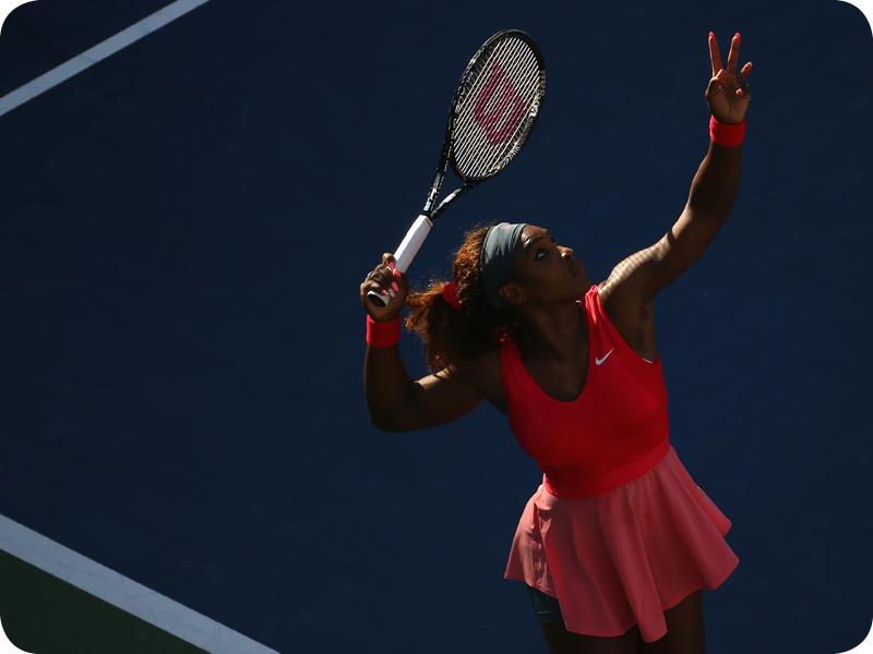Serena Williams at her Grand Slam 21