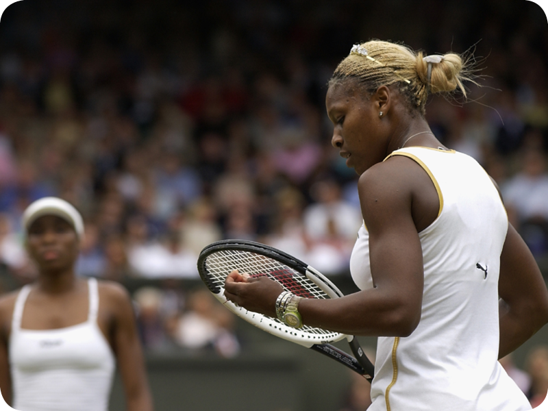 Serena Williams at her Grand Slam 3