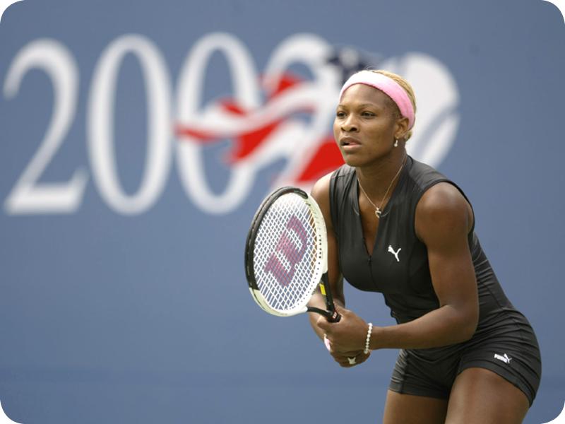 Serena Williams at her Grand Slam 4