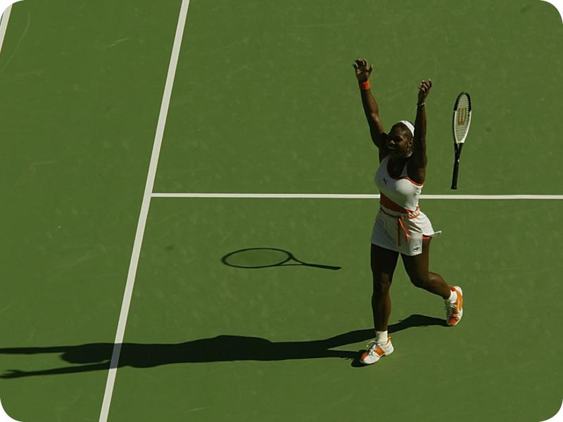 Serena Williams at her Grand Slam 5
