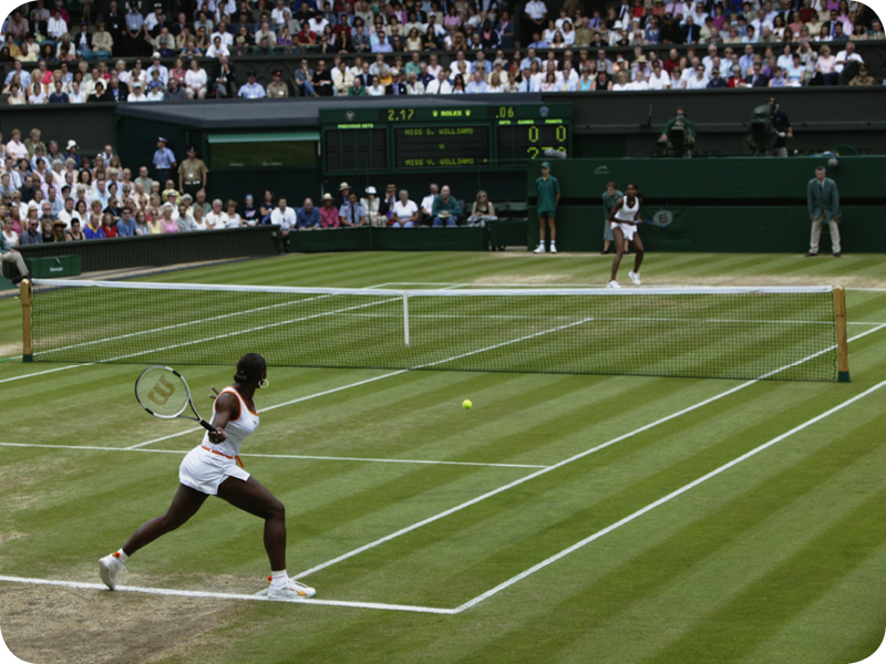 Serena Williams at her Grand Slam 6
