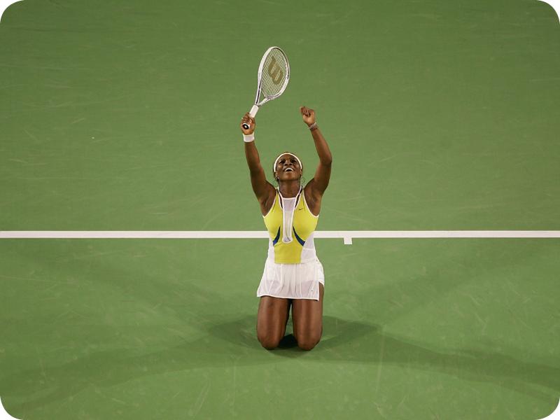 Serena Williams at her Grand Slam 7