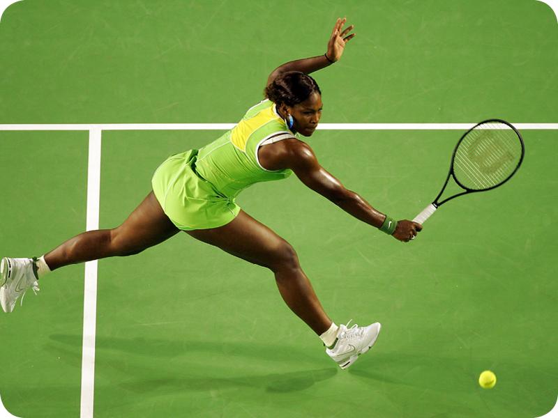 Serena Williams at her Grand Slam 8