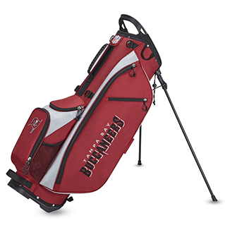 Golf bag with Tampa Bay logo on it